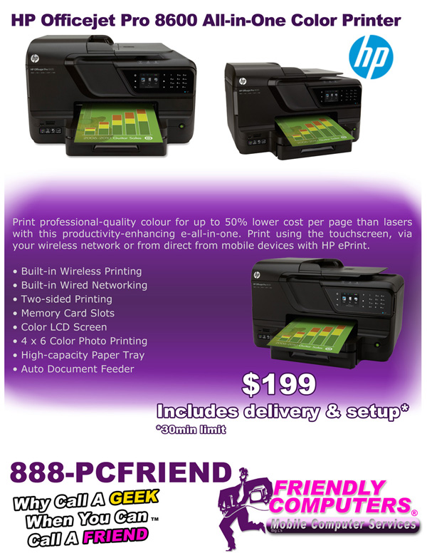 HP Officejet Pro 8600 All-in-One Color Printer special