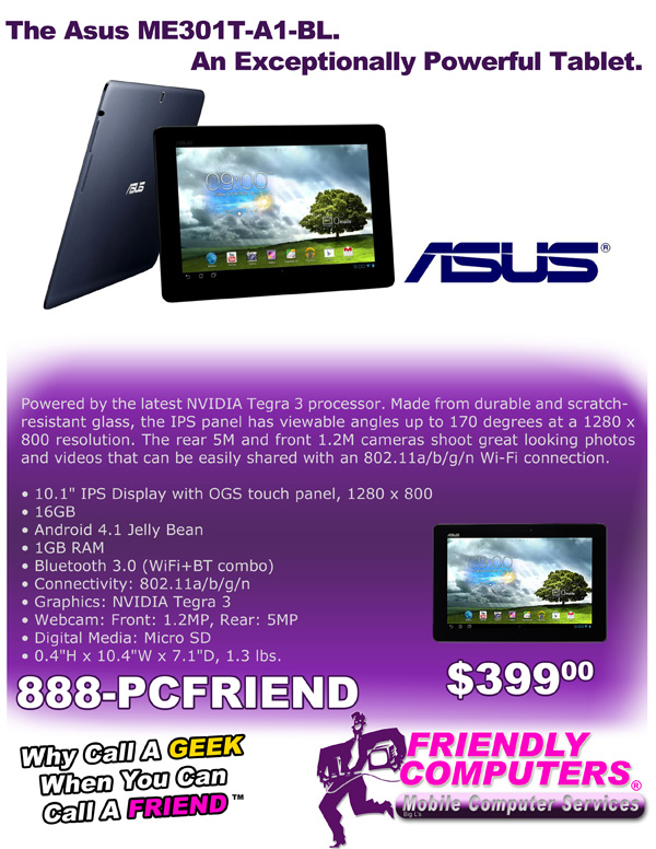Asus Tablet special