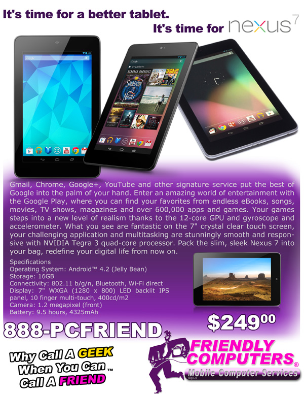 Nexus 7 Tablet special